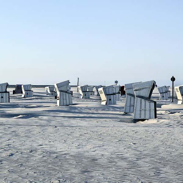 Strandkörbe am Strand von St.Peter-Ording